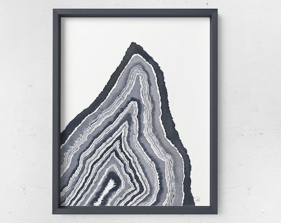Monochromatic Geode Print