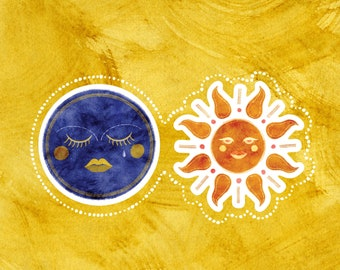 Celestial Ladies Vinyl Stickers