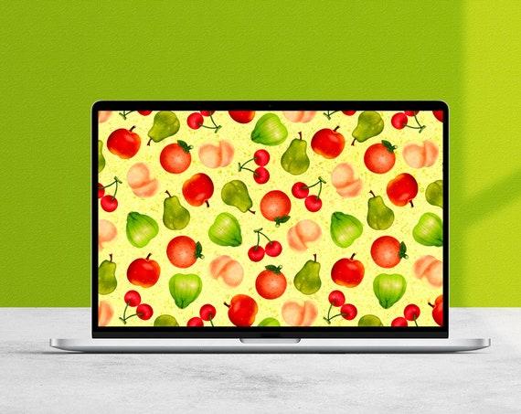 Animal Crossing New Horizons Fruit Pattern Desktop Wallpaper