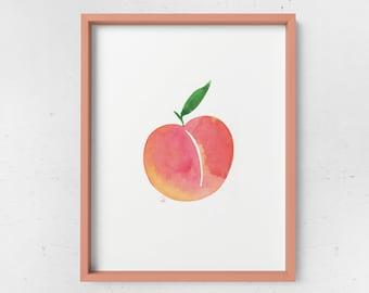 Juicy Watercolor Wall Print