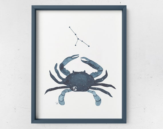 Cancer Watercolor Print - ZODIAC SERIES