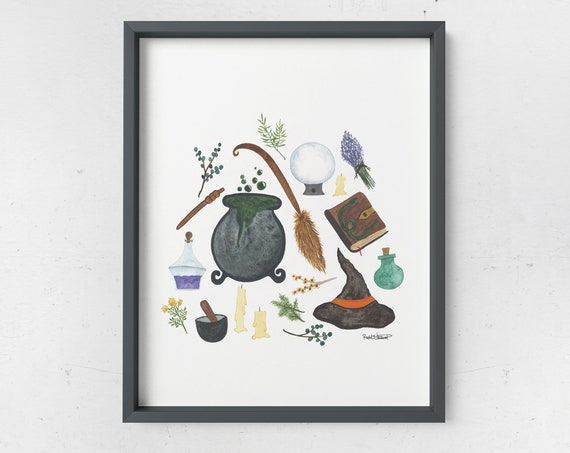 Witching Hour Watercolor Print
