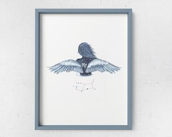 Virgo Watercolor Print - ZODIAC SERIES