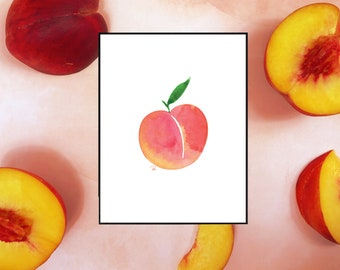 Juicy Watercolor Wall Print - 5x7