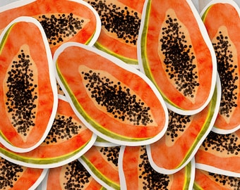 Papaya Vinyl Sticker