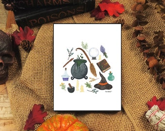 Witching Hour Watercolor Print - 5x7
