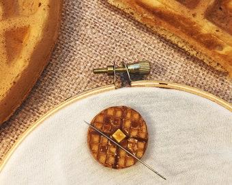 Miniature Waffle - miniature, needle-minder, or magnet