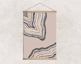 Neutral Toned Geode Watercolor Print