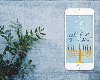 Get Lit Hanukkah Wallpaper
