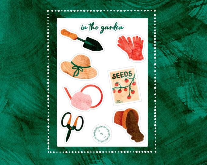 Featured listing image: In The Garden Vinyl Sticker Set