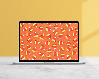 Candy Corn Desktop Wallpaper