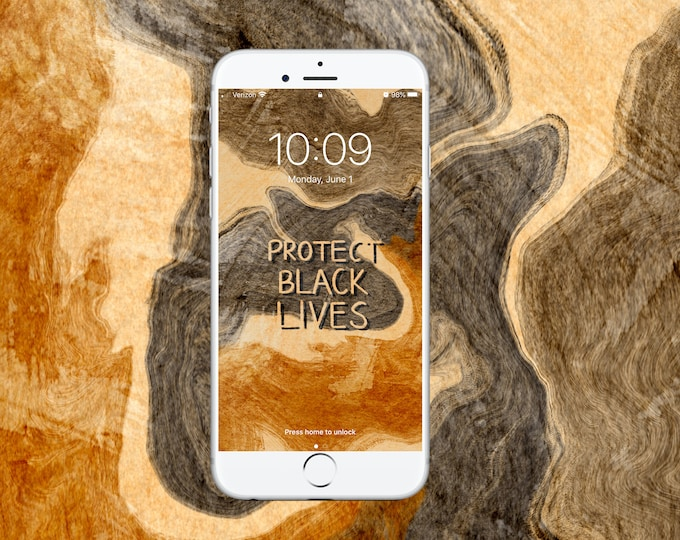 Featured listing image: Protect Black Lives Wallpaper - 100% of proceeds will be donated to Black Lives Matter