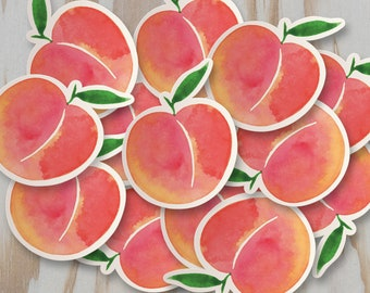 Peach Vinyl Sticker