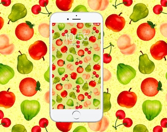 Animal Crossing New Horizons Fruit Pattern Wallpaper