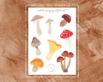 Autumn Foraging Vinyl Sticker Set