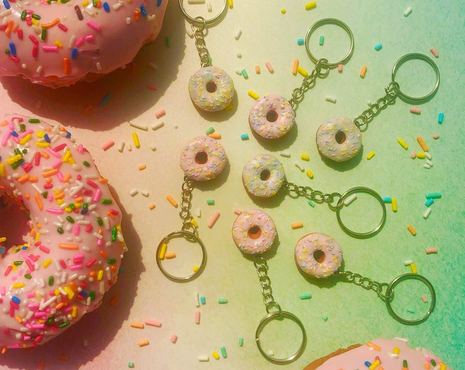 Featured listing image: Pastel Sprinkle Donut Keychain