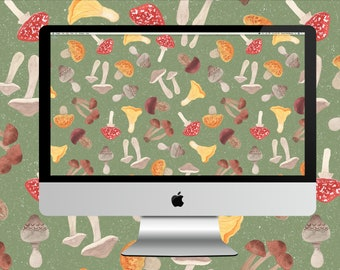 Autumn Foraging Desktop Wallpaper