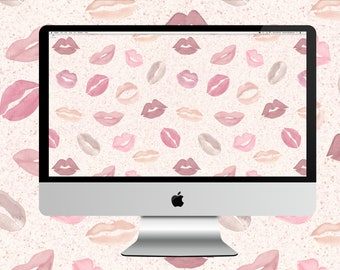 Nude Lips Desktop Wallpaper