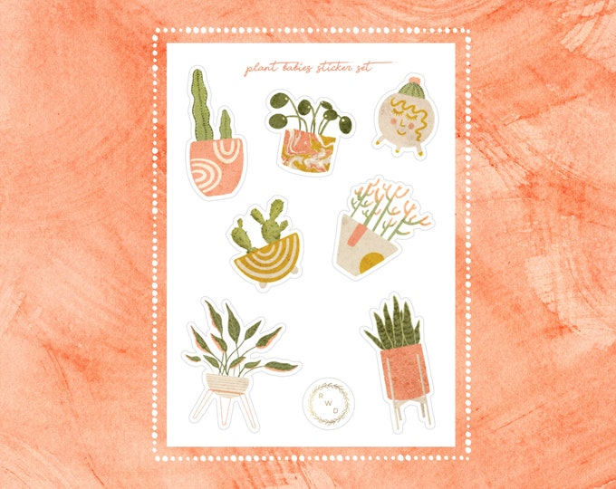 Featured listing image: Plant Babies Vinyl Sticker Set