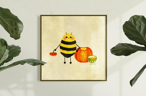 Bud the Bee Pumpkin Digital Print