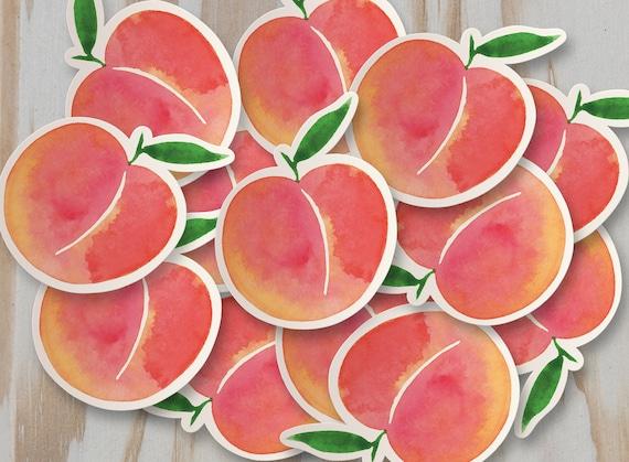 Peach Vinyl Sticker