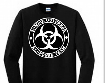 Zombie Outbreak Response Team Shirt / Halloween Shirt / Zombie Shirt /
