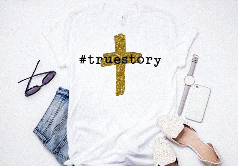 2b7aee11 True Story Shirt Happy Easter Easter Cross Tee Easter | Etsy