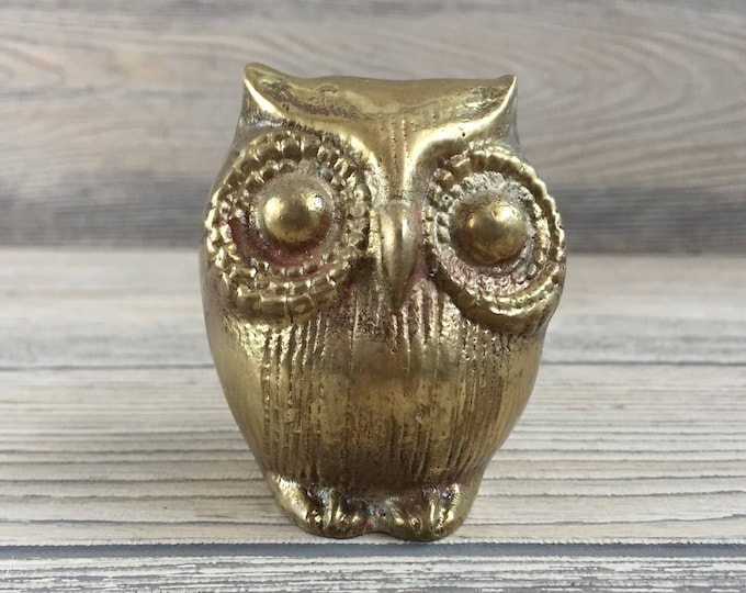 Featured listing image: Brass Owl Figurine