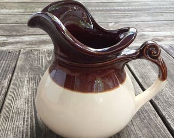 Brown and Cream McCoy Pitcher #7515