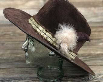 56b4434ba0f M   B Headwear Brown Suede Cowboy Hat