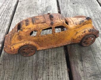 Vintage Cast Iron Taxi Cab