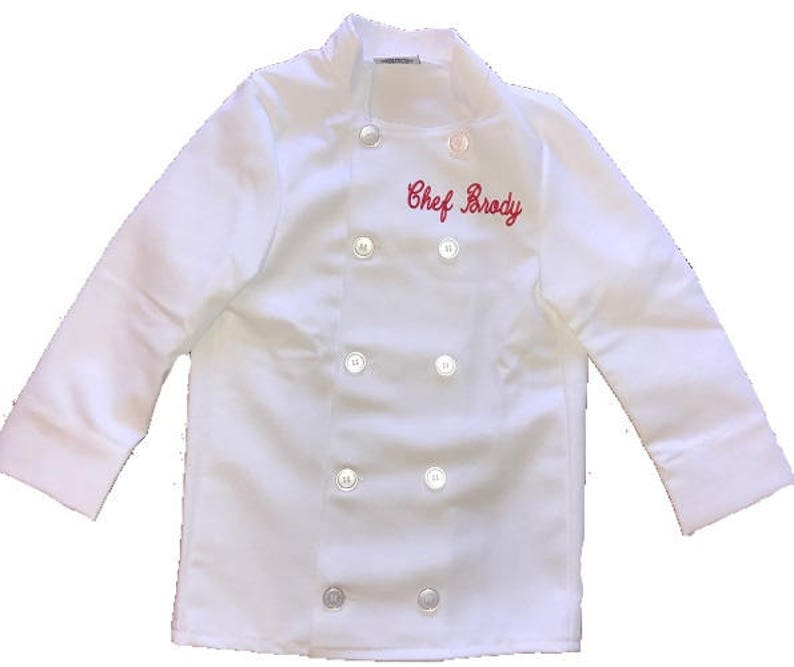 33fcd9b73 Personalized Kids Chef Coat Cooking Jacket Includes