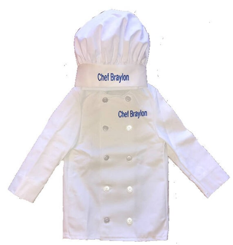 c33b3541 Personalized Kids Chef Coat & Chef Hat Set Price includes | Etsy
