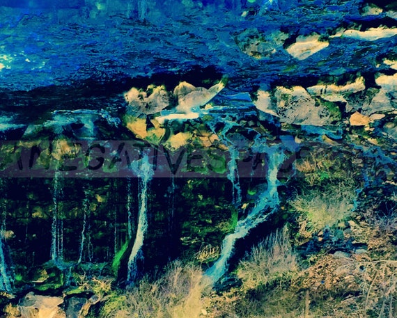 "DIZZY--- original photo transferred to reflective, lightweight metal 16""H x 20""W one of a kind no duplicates made waterfall"