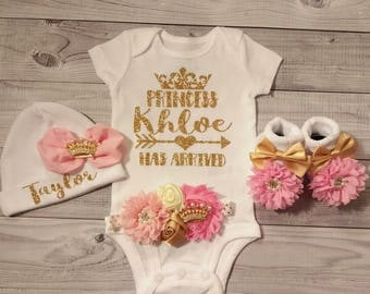 Baby Girl, Coming Home Outfit, Girl, Baby Clothes, Baby Girl Clothes, Newborn, Outfit, Coming Home Outfit, Personalized, Going Home Outfit