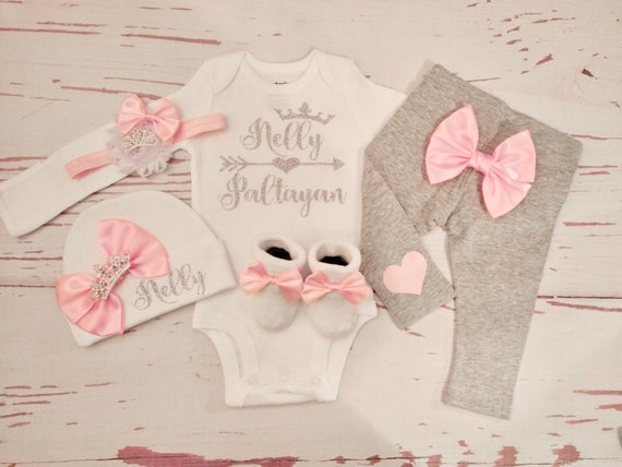 Baby Hospital Outfit Ready To Ship Baby Girl Newborn Set