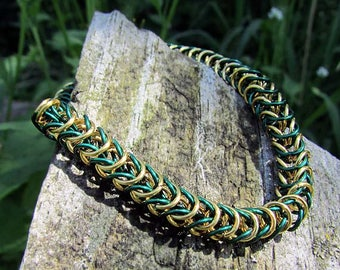 chainmaille jewelry,chainmaille bracelet,enameled copper,copper chainmaille,box weave,box chainmaille,box chain bracelet,chainmail bracelet