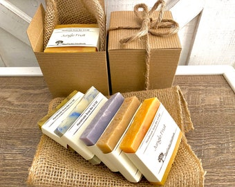 Natural Soap Gift Set, Eco Friendly Packing Recyclable, Plastic Free Shipping, Gift Box Set