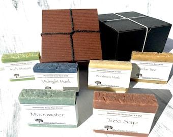 Men's Gift Box, Soaps For Men, Unisex Soap, Plastic Free Shipping