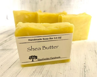 Unscented Shea Butter Soap, Hypoallergenic Soap Bar, Sensitive Skin