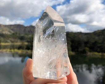 Clear Brazilian Quartz Point, 02
