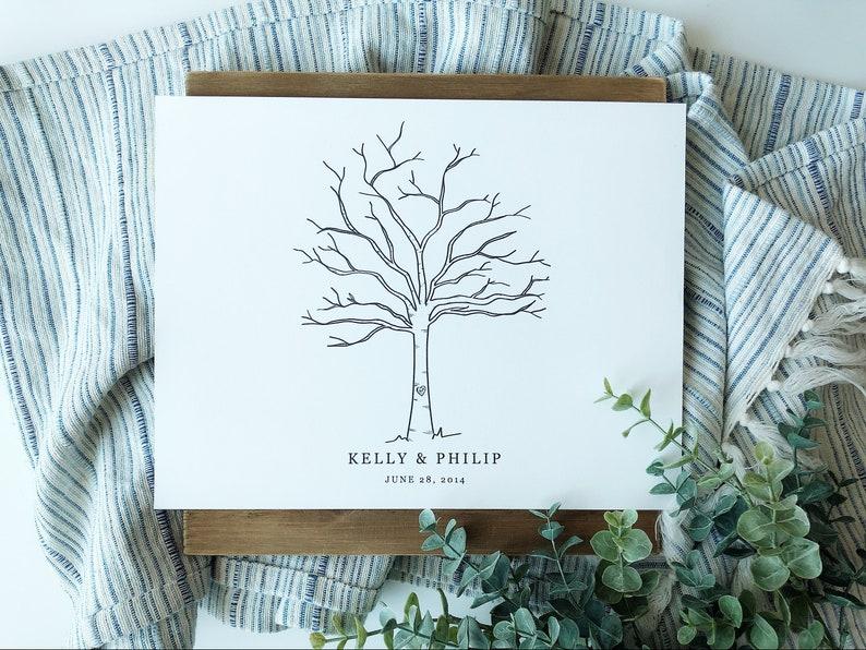Thumbprint Guest Book Printable  Thumbprint Tree  Wedding image 0