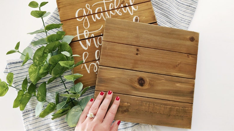 Personalized Wood Pallet Sign  Custom Hand-lettered Sign  image 0