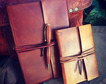 Wrap Around Leather Journal / Sketchbook