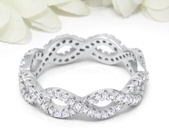 Braided diamond ring   Etsy