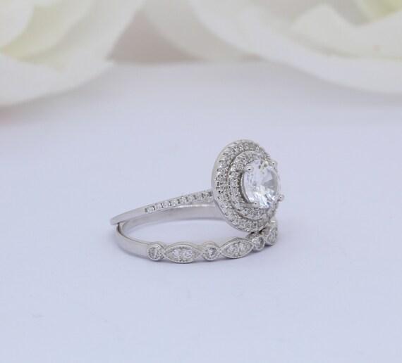 Sonia Jewels Sterling Silver Diamond /& Simulated Amethyst Teardrop Ring 2mm