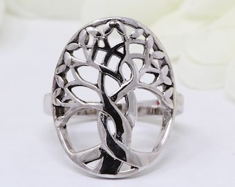 Tree of Life Ring Solid 925 Sterling Silver Tree of Life Band