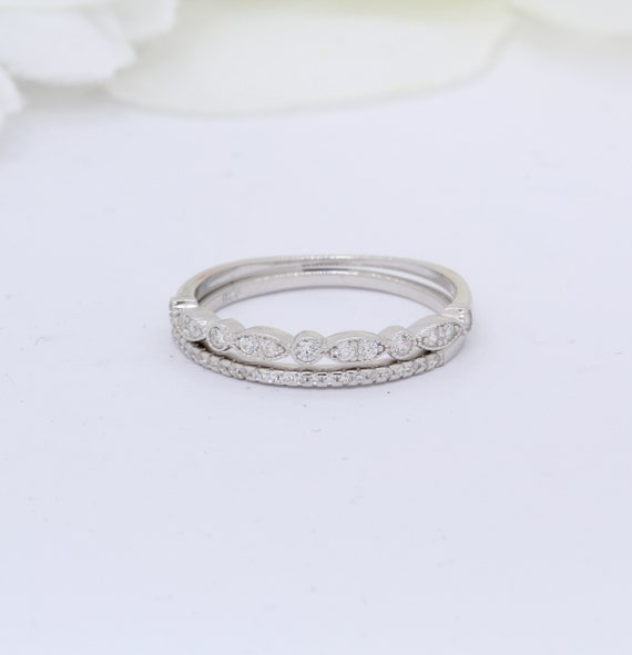 Half Eternity Wedding Band Ring Round CZ 925 Sterling Silver Choose Color