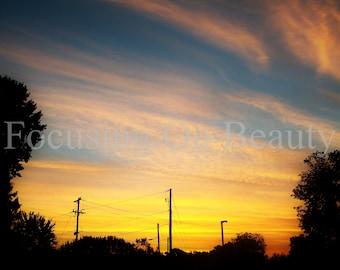 Yellow Wall Art / Download Yellow Art / Yellow Artwork / Sunrise Photography / Nature Photography / Download Art / Sky Photography / Artwork