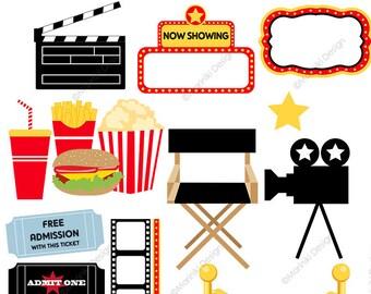 ticket clip art etsy rh etsy com Theater Clip Art movie theatre clipart images